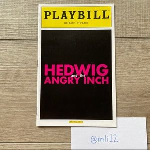 PLAYBILL Hedwig and the Angry Inch on Broadway